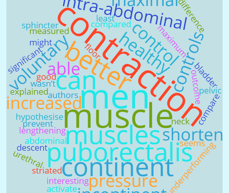 POST-PROSTATECTOMY | pelvic floor muscle contraction of (in)continent men